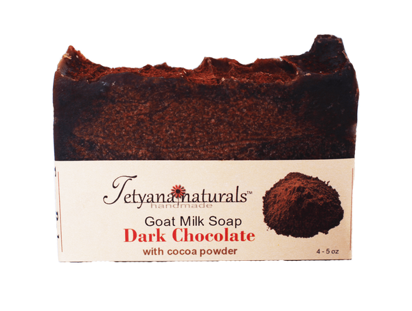 Dark Chocolate Goat Milk Soap Bar - Tetyana naturals