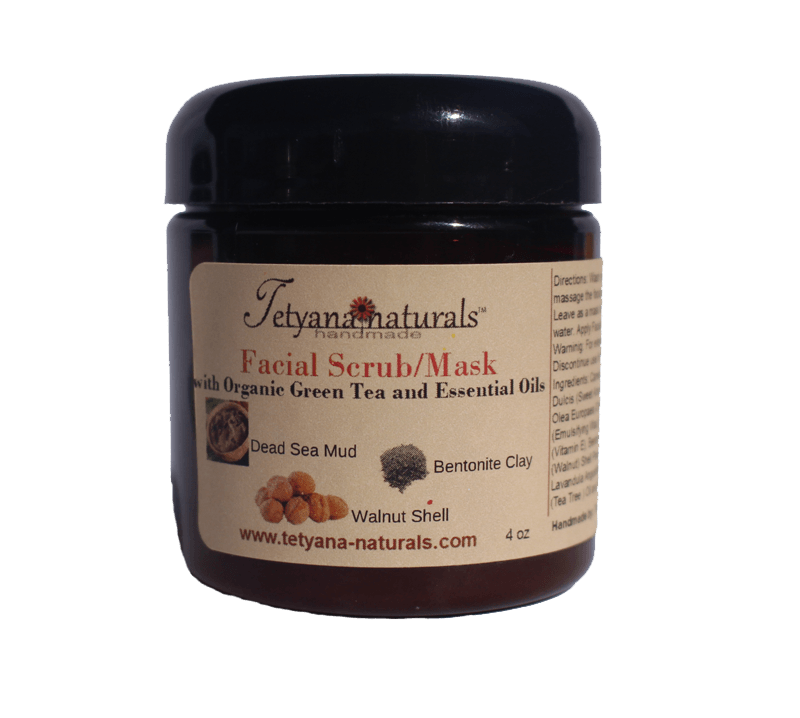 Facial Scrub/Mask with Dead Sea Mud - Tetyana naturals