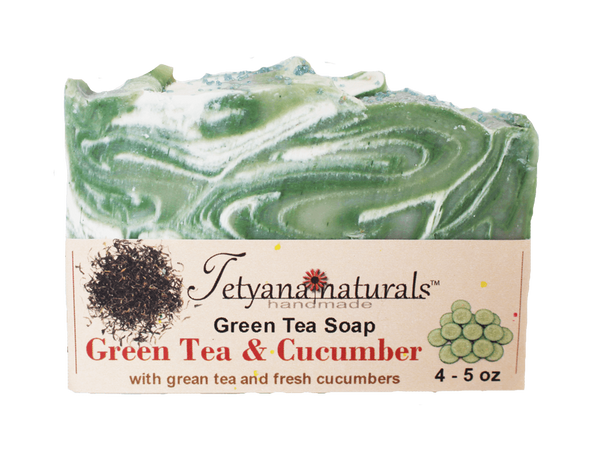 Green Tea and Cucumber Soap Bar - Tetyana naturals - 1