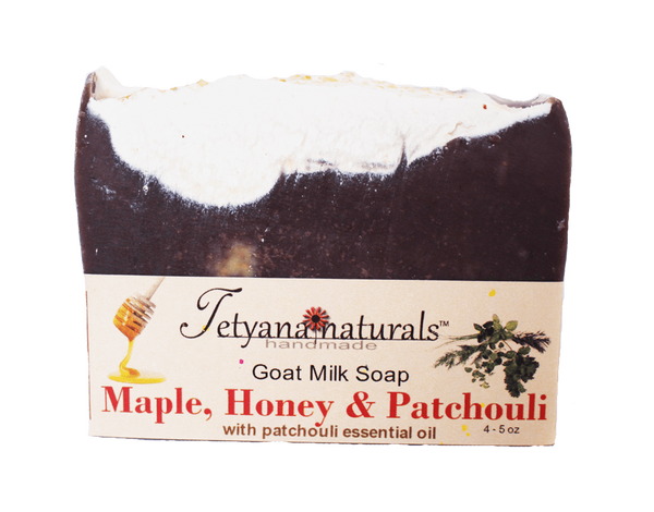 Maple, Honey and Patchouli Goat Milk Soap - Tetyana naturals