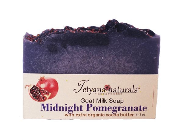 Midnight Pomegranate Goat Milk Soap - Tetyana naturals