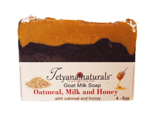 Oatmeal, Milk and Honey Goat Milk Soap - Tetyana naturals