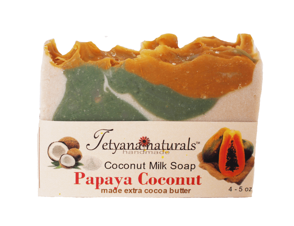 Papaya Coconut Soap Bar - Tetyana naturals
