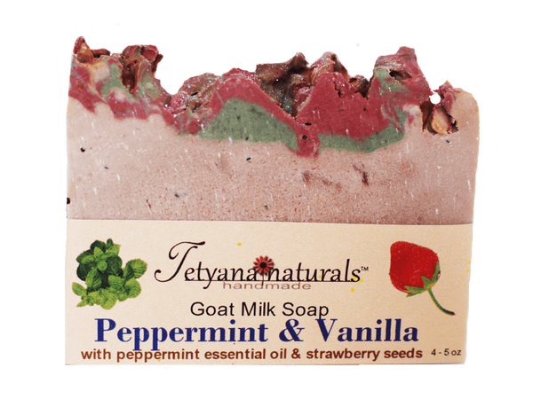 Peppermint and Vanilla Goat Milk Soap - Tetyana naturals
