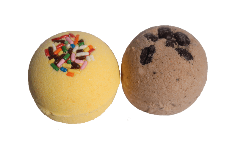 Set of 2 Small Bath Bombs (Summer and Espresso) - Tetyana naturals