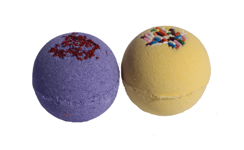 Set of 2 Small Bath Bombs (Black Raspberry & Vanilla and Summer) - Tetyana naturals