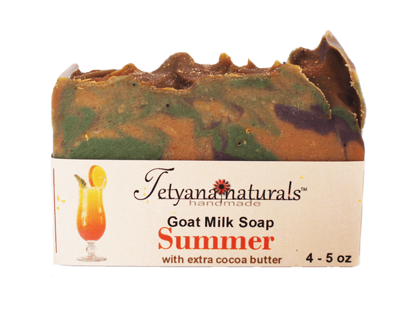 Summer Goat Milk Soap Bar - Tetyana naturals - 1