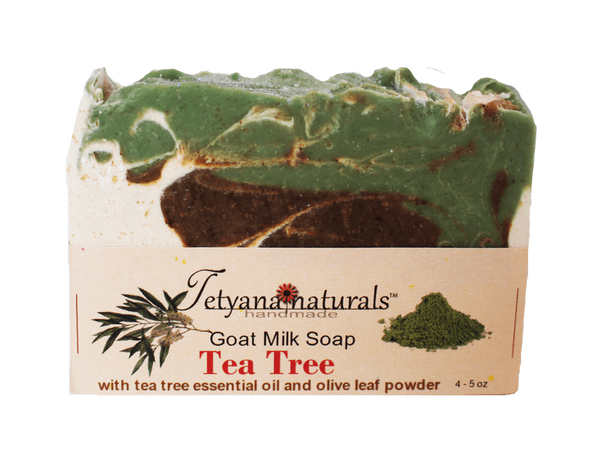 Tea Tree Goat Milk Soap - Tetyana naturals - 1