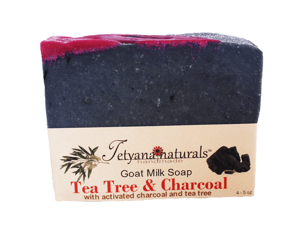 Tea Tree & Charcoal Goat MilkSoap - Tetyana naturals