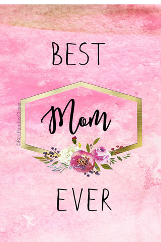 Best Mom Ever postcard 4 x 6 Free Download