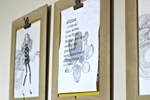 Printable Ahimsa Decor on the Wall