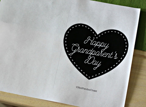 Black and White Print of the Printable Greeting Card
