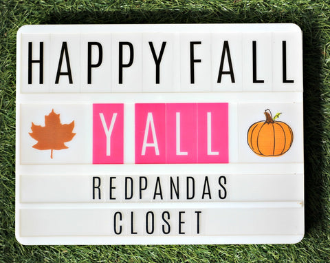 Happy Fall Y'all - Red Pandas Closet