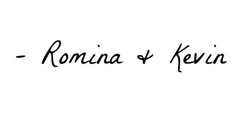 Signed, Romina + Kevin