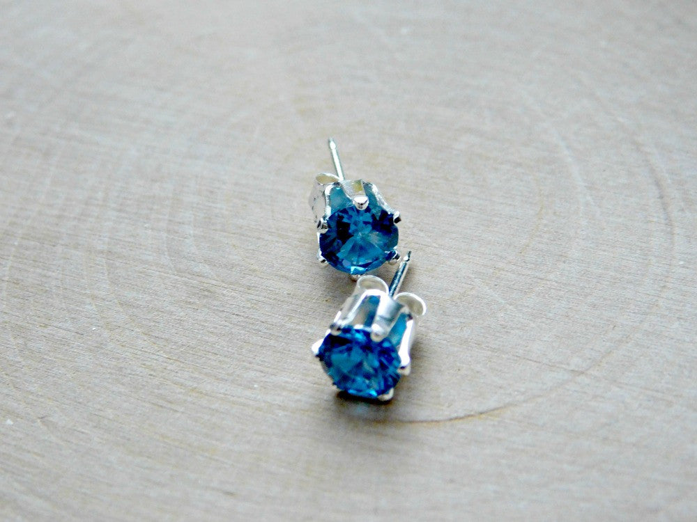 combe davina test knot with shop drop topaz blue gemstone earrings