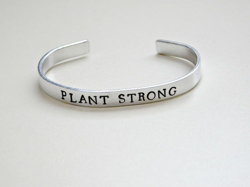 Plant Strong Gift Vegan Bracelet Animal Rights Jewelry Veganism Plant Based Activist Advocacy Unisex