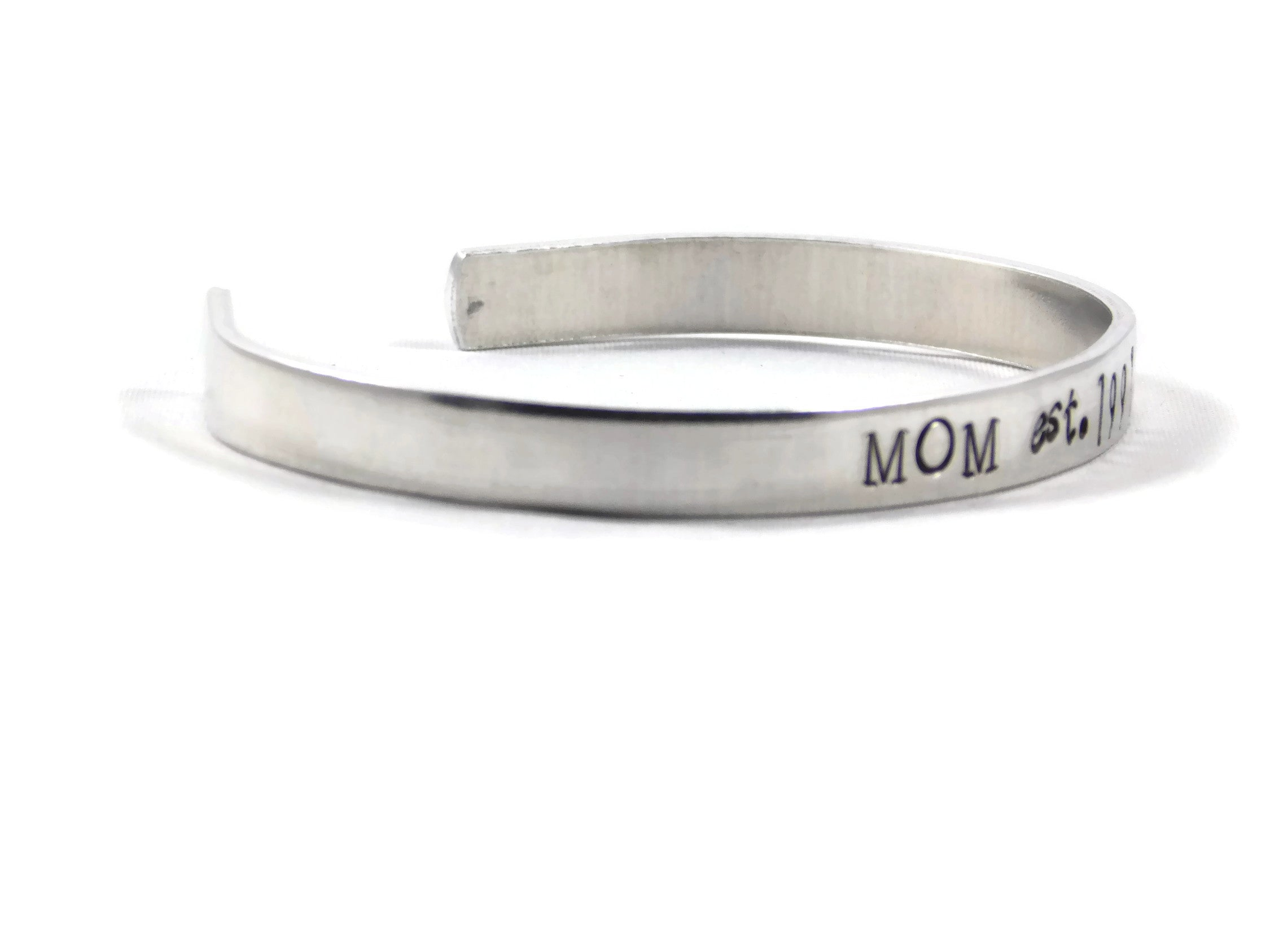 Custom Mom Bracelet Mothers Day Cuff Personalized Year Mama Mother In Law Grandma Grandmom