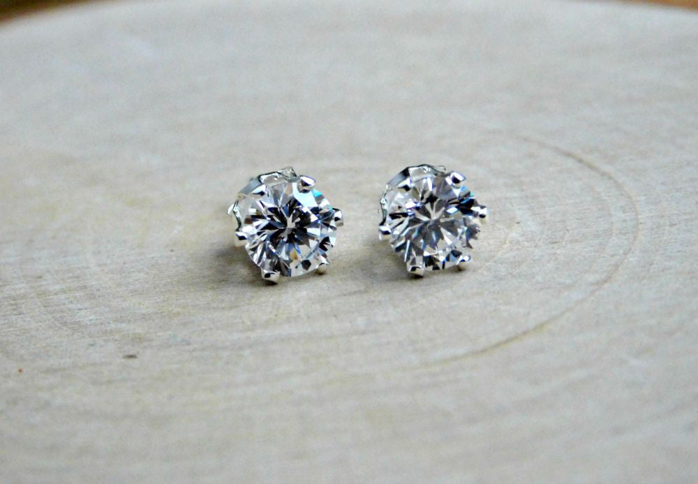 bridesmaid ready earrings jewelries gift made white natural gold december diamonds birthstone stud topaz diamondsbridesmaid