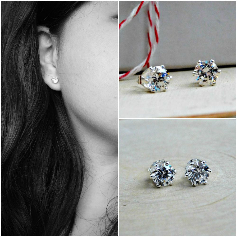 gem delicate zirconia earring stud womens birthday sterling products everyday cubic december earrings silver birthstone earrin zircon gift simple