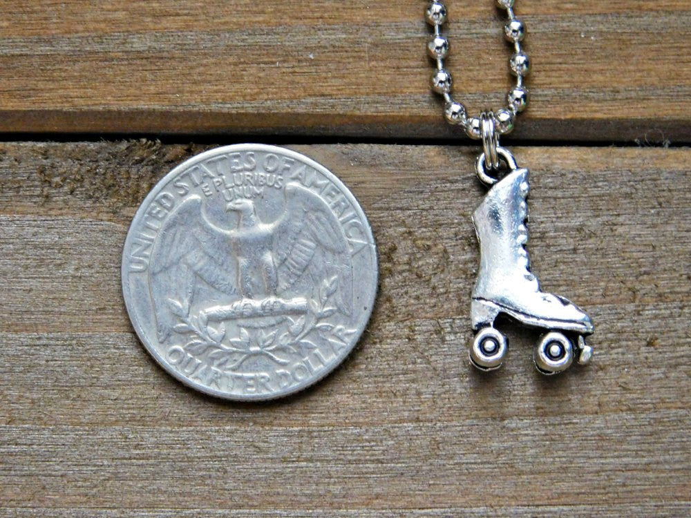 Rollerskate Necklace Rollerblade Roller Skate Necklace Skate Charm Necklace Rollerblade Necklace Skating Necklace Hobby Charm Hobby Necklace