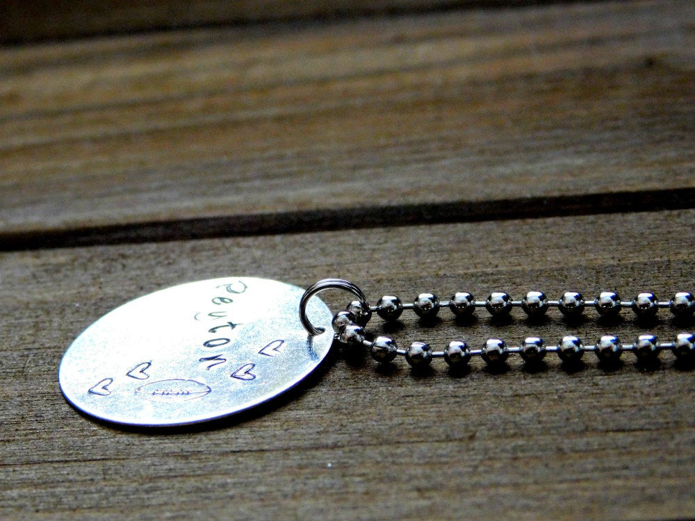 Peyton Football Necklace Custom Name Necklace Personalized Football Necklace Stamped Sports Necklace Athlete Coach Gift Name Engraved Design