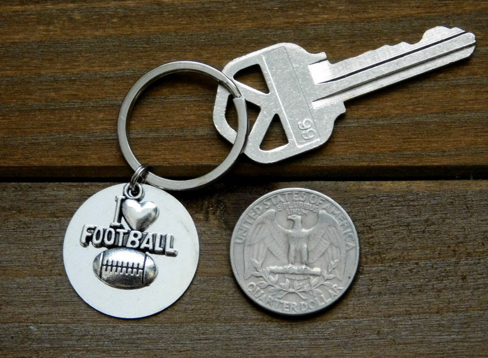Football Gift Keychain Custom Player Athlete Coach Sports Charm American Foot Ball