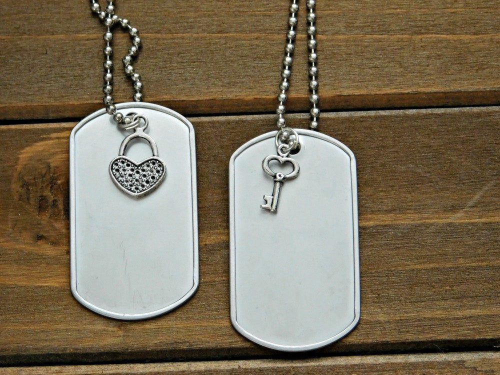 custom includes id available steel color com with military two stainless silencers and amazon complete chains personalized dp options wnml dog us tags necklace