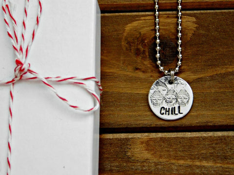 Couples Dogtag Necklace Military Stamped Dog Tag Wedding Anniversary Gift Spouse Long Distance