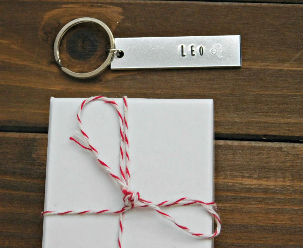 Leo Keychain July August Birthday Gift Zodiac Sign Lion Symbol Astrolo