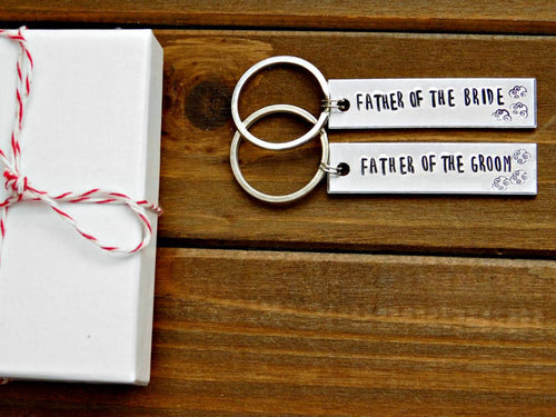 Father Of The Bride Groom Gift Custom Keychain Wedding Bridal Party Favor In Law Thanks