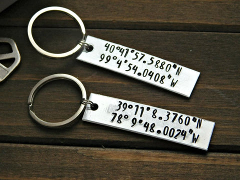 Couples Bracelet Set His Hers Stamped Custom Personalized Gift Wedding Anniversary Valentines