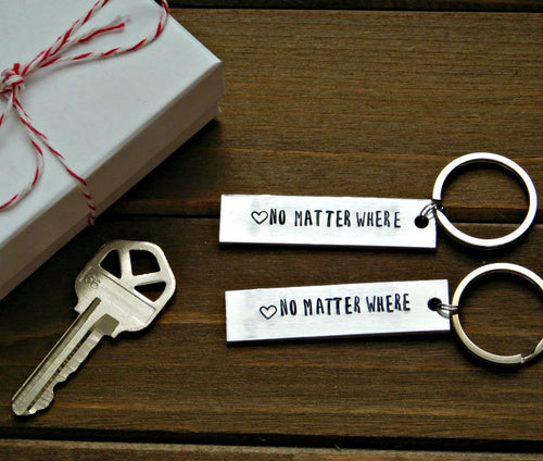 Latitude Longitude Keychain Custom Gift Stamped Personalized Place Long Distance Relationship
