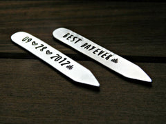 Custom Collar Stays Best Day Ever Mens Gift Personalized Wedding Anniversary Birthday Graduation