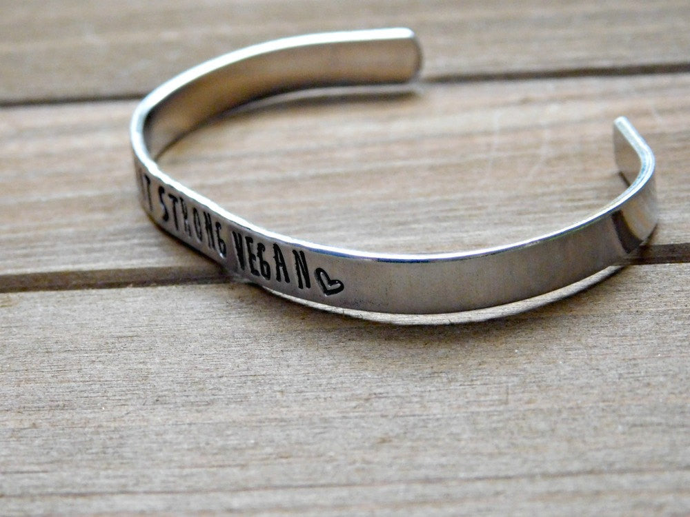 be steel strong cuff brave home stainless inspirational bracelet