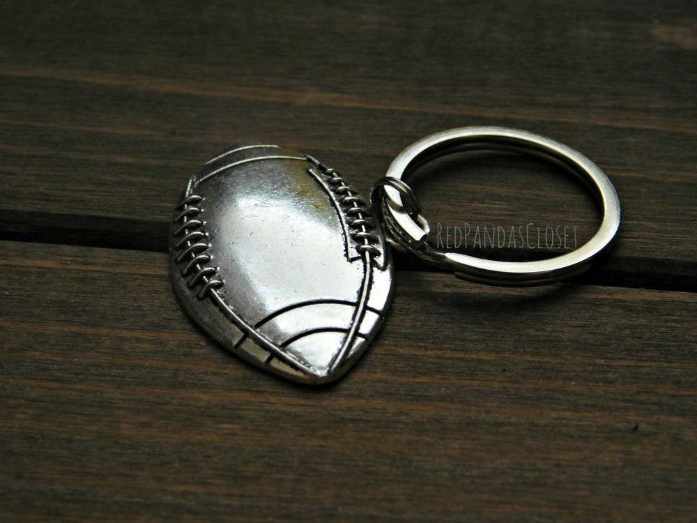 Football Keychain Gift American Sports Fan Athlete Player Coach Student Keyring
