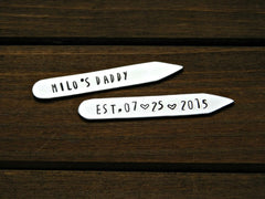 Collar Stays Custom Daddy Dad Gift Personalized Customized For Him Fathers Day Gift Anniversary