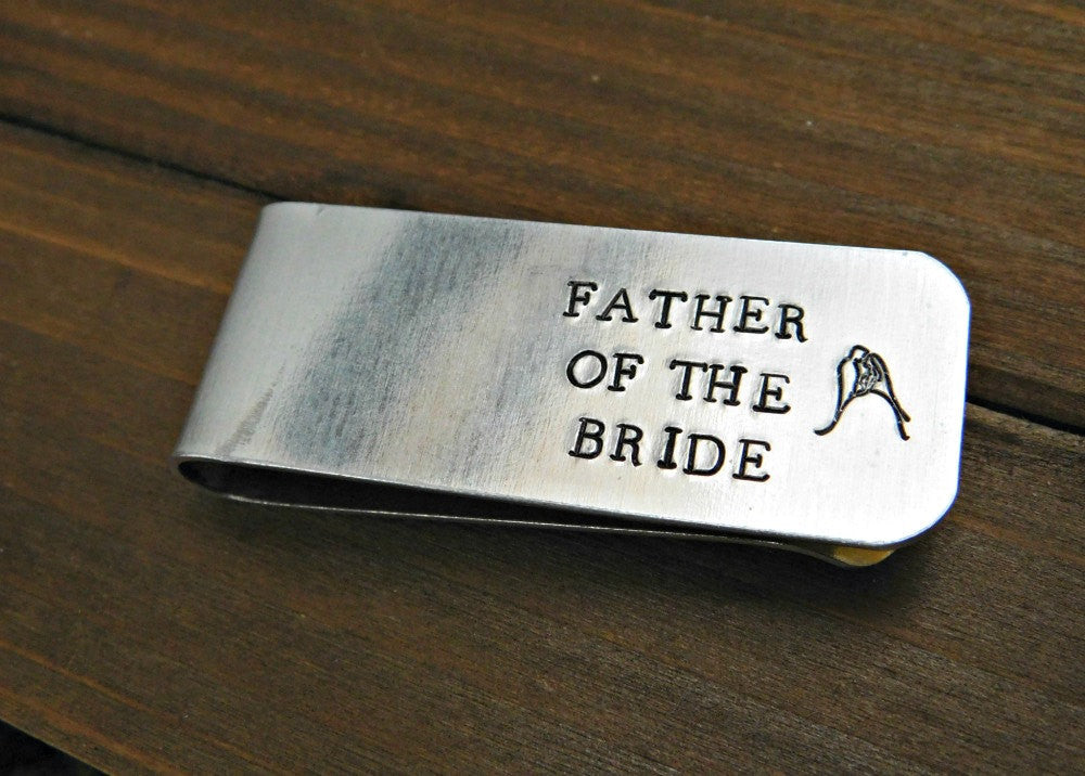 Father Of The Bride Moneyclip Custom Personalized Money Clip Wedding Favor Gift Father of the Groom