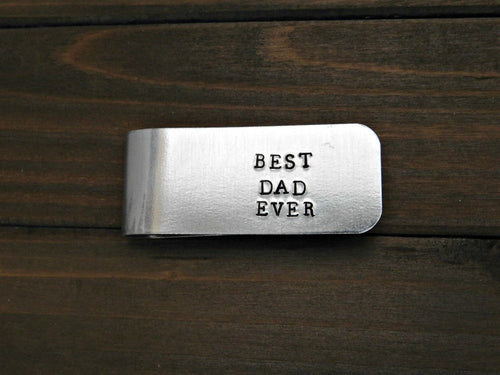 Best Dad Ever Custom Gift Moneyclip Personalized Money Clip Fathers Day Father Dad Daddy Grandfather