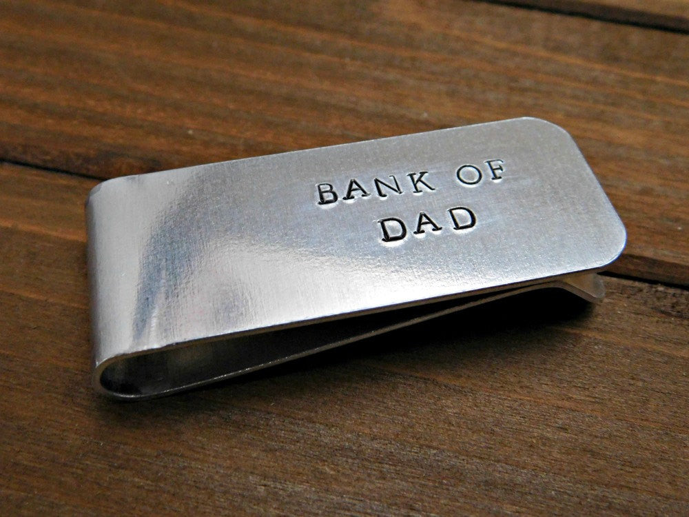 Fathers Day Gift Custom Moneyclip Personalized Money Clip Father Dad Daddy Grandpa Grandfather