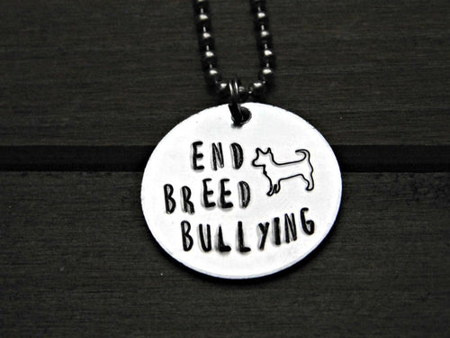 End Breed Bullying Necklace Dog Lover BSL Custom Gift Pet Memorial Jewelry Stamped Personalize Chain