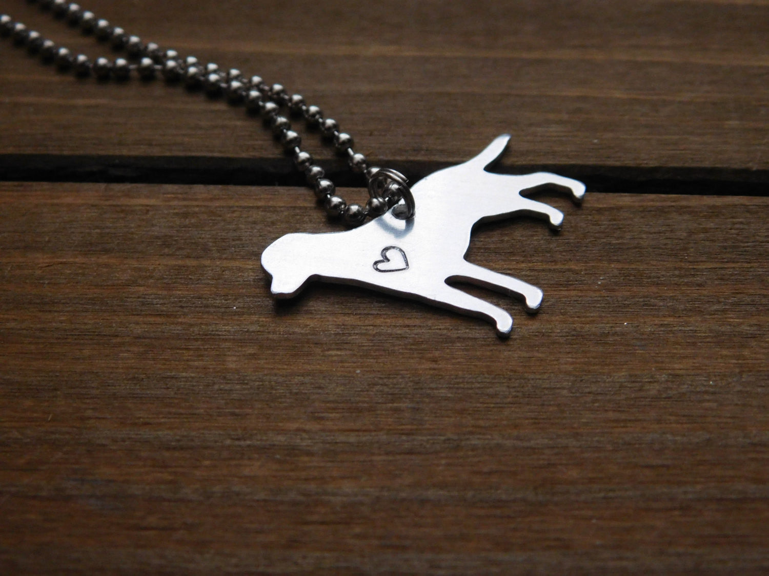 Mutt Necklace Dog Lover Labrador Retriever Rescue Pet Custom Stamped Gift Heart Personalized Hound Mixed Breed Love
