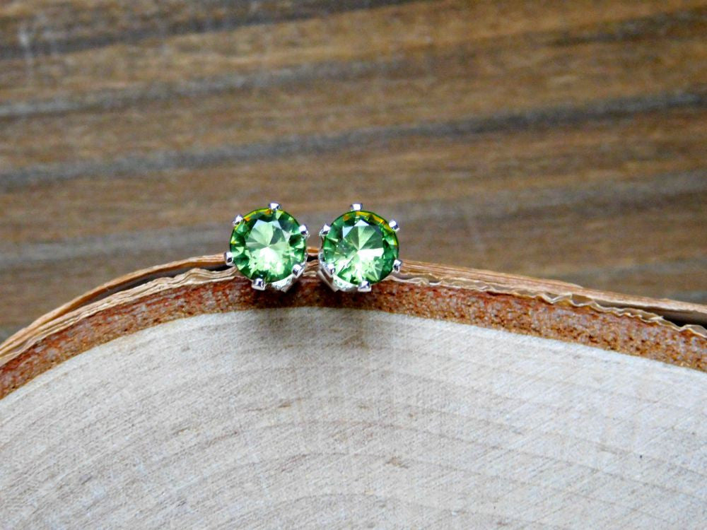 August Birthstone Vegan Peridot Earrings