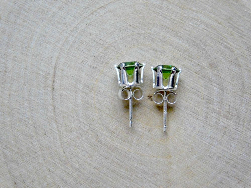 Lab Created Peridot Vegan Earrings
