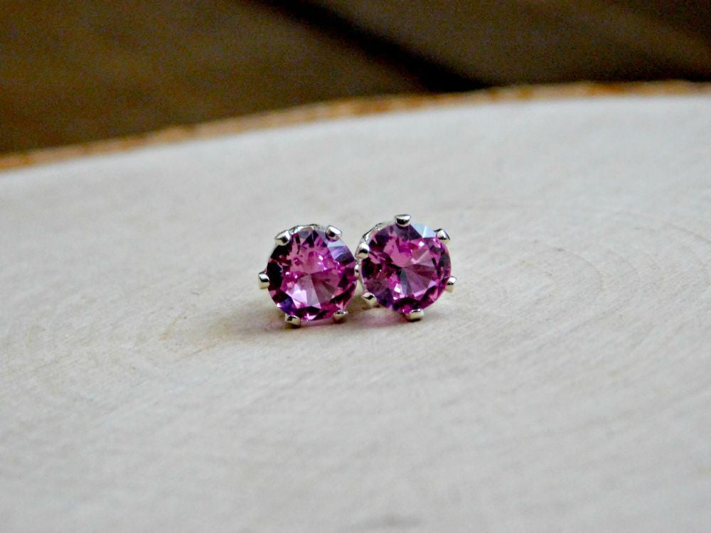 p tourmaline pink sensitive gold stud earrings october s studex birthstone