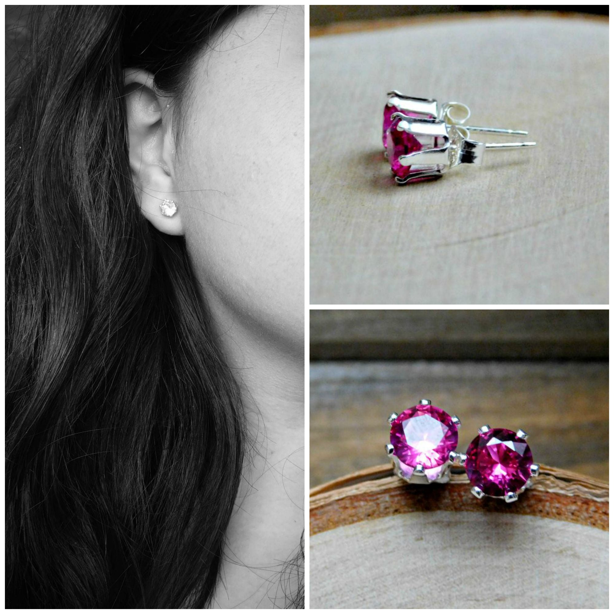 image womens shape diamond earrings and stud cluster ruby pear