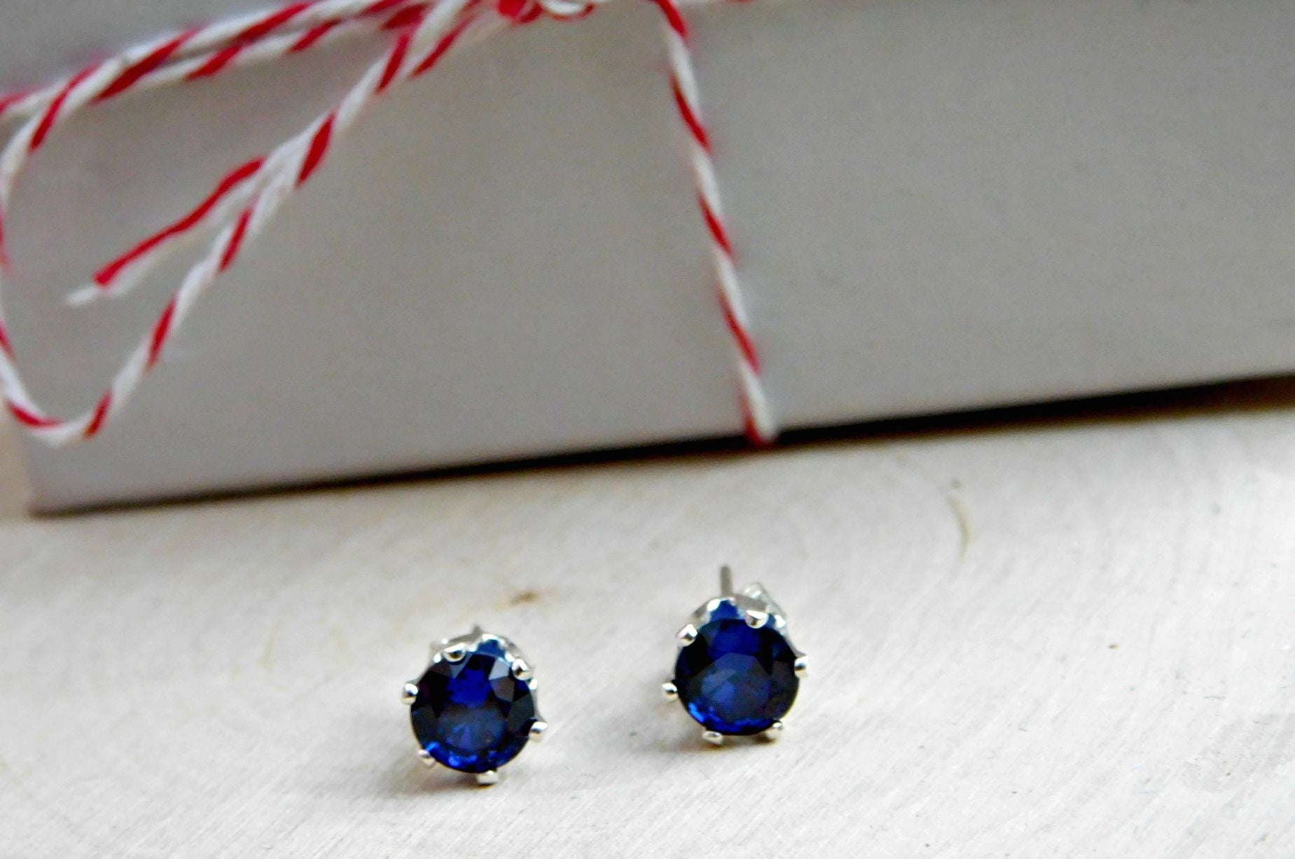 Lab Created Sapphire Earrings
