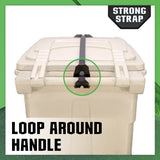 Strong Strap™ - Universal Garbage Can Lid Lock / Retainer Kit