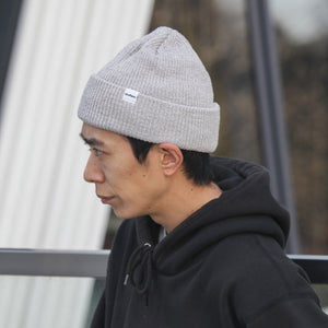 Recycled Cotton Knit Beanie - Lt. Grey Heather