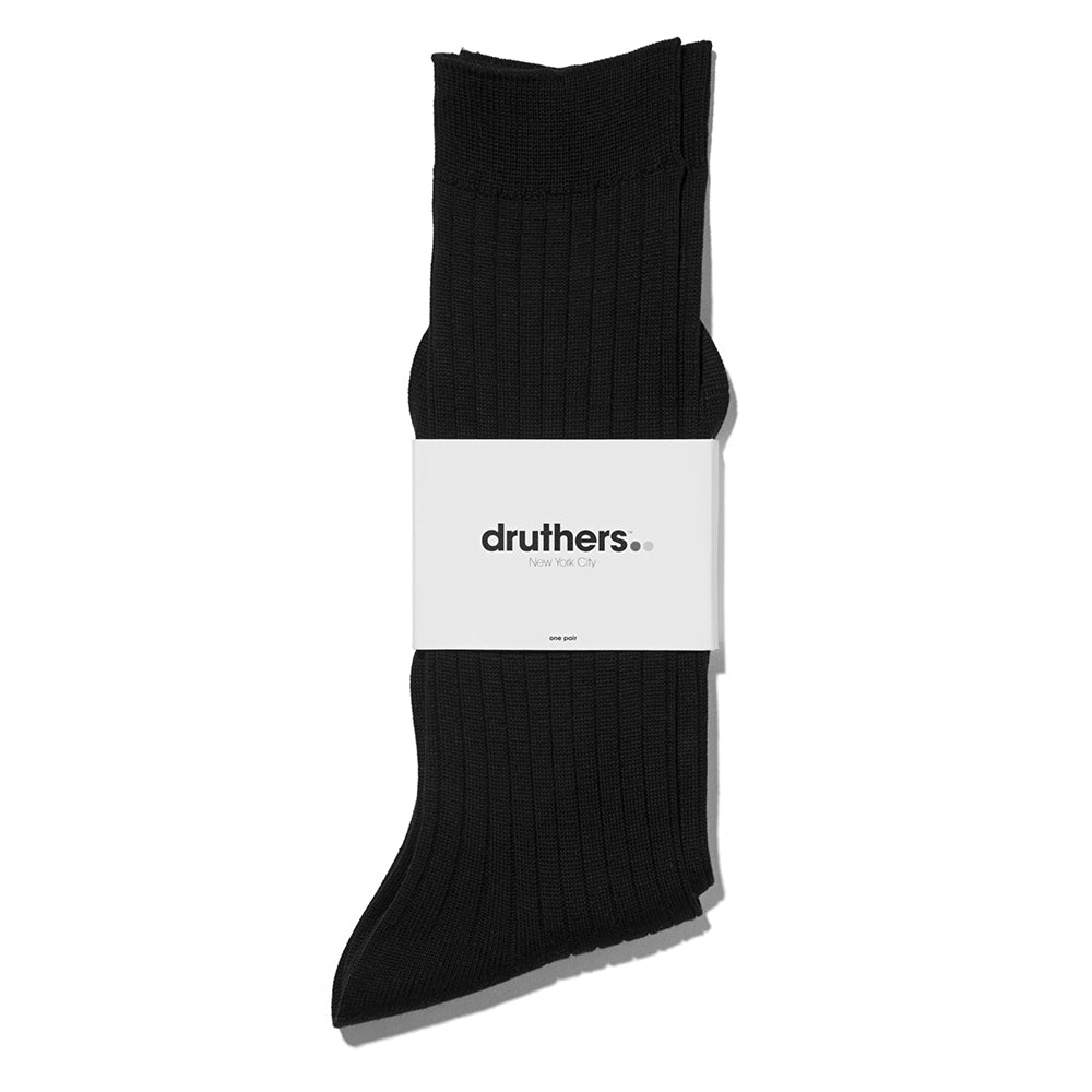 Giza Cotton Dress Sock - Black