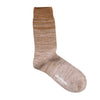 Organic Cotton Gradient Crew Sock - Brown / Taupe